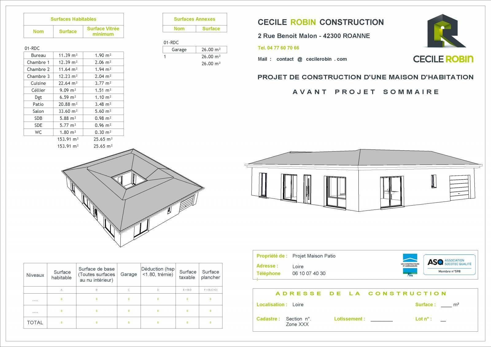 Maison Avec Patio Central Loire Construction De Maison Sur Mesure Vers Roanne Cecile Robin