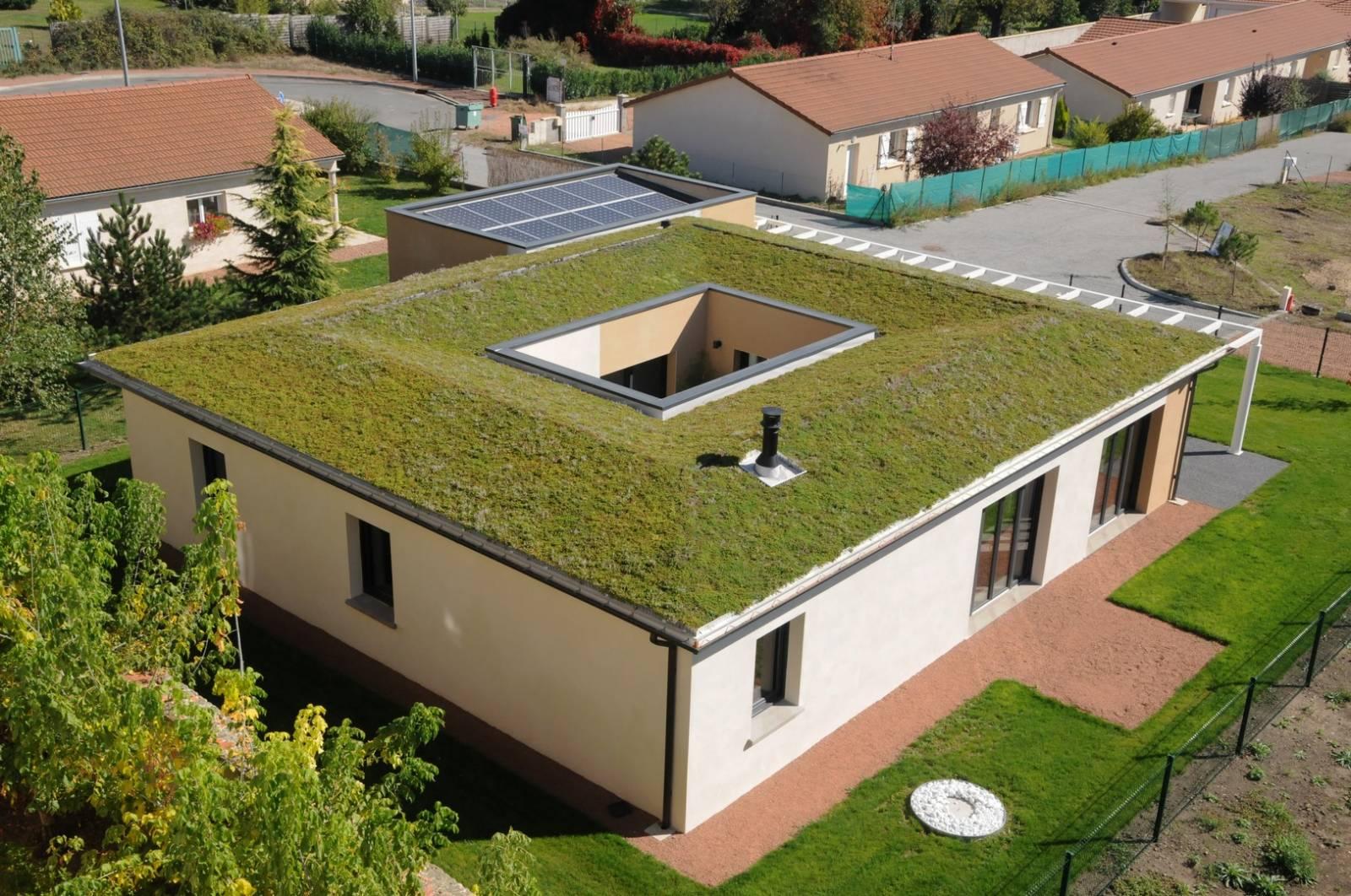 Maison avec patio central loire construction de maison sur mesure vers roanne cecile robin - Plan de maison avec patio central ...