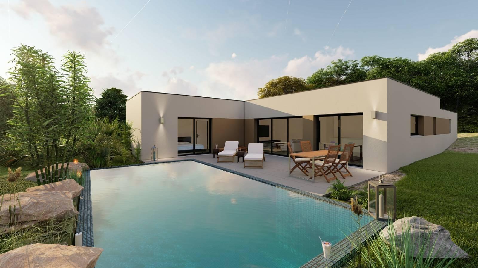 Maison contemporaine de plain pied Chasselay - Construction ...